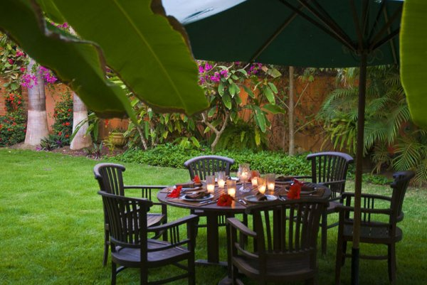 Lush Garden at at Quinta Christileen, a luxury vacation rental in Punta Mita, Mexico