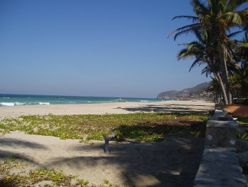 Litibu Beach to the right of Quinta Christileen, a luxury vacation rental in Punta Mita, Mexico
