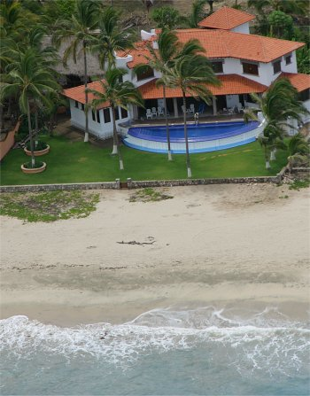 Aerial View of Quinta Christileen, a luxury vacation rental in Punta Mita, Mexico