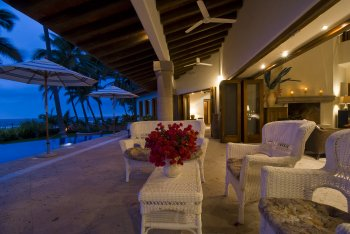 Pool Side at Quinta Christileen, a luxury vacation rental in Punta Mita, Mexico